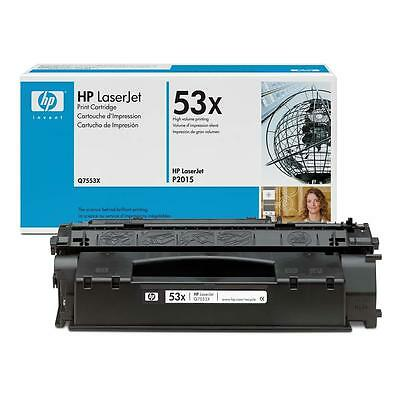 New Genuine Factory Sealed HP 53X Laser Cartridge Bright Blue and Wht Box
