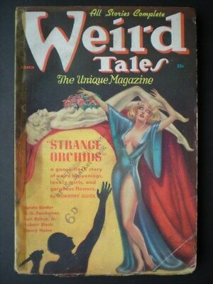 WEIRD TALES (March, 1937) good condition,MARGARET BRUNDAGE COVER,H. P. LOVECRAFT