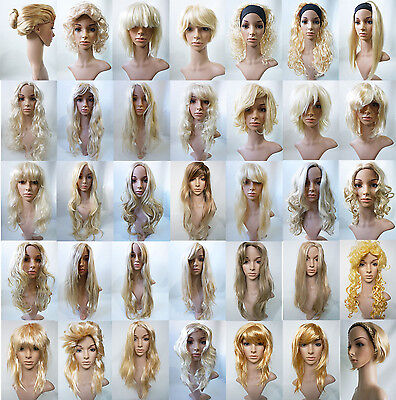 Blonde Mix Long Short Straight Wavy Curly Fancy Dress Party Wig