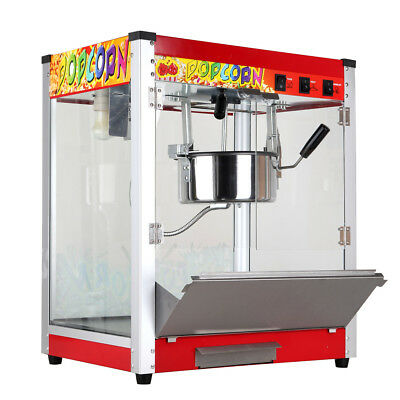 KAY 220V Electric Popcorn Machine Commercial Cinema Theatre Popper Maker 8 Ounce