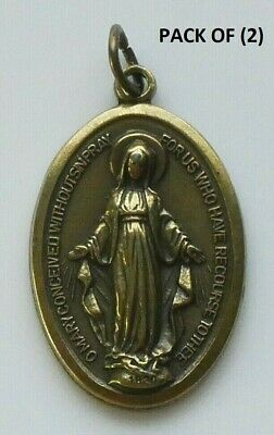 "Miraculous (Our Lady of Grace) Brass Medal 1-1/8"" (Italy)"