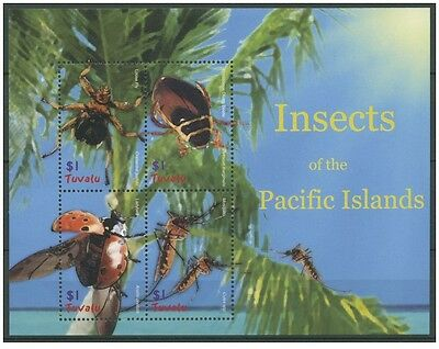 Bloc Sheet Insectes Insects  Neuf ** MNH  Tuvalu 2005