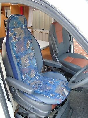 To Fit Peugeot Boxer Motorhome, Seat Covers, Sample 10