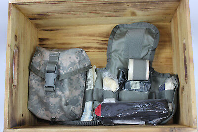 New US ARMY ACU IFAK First Aid Kit with Inserts, Tourniquet & Supplies Set