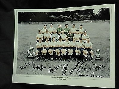 Tottenham Hotspur 61 Team Photograph Signed By 7