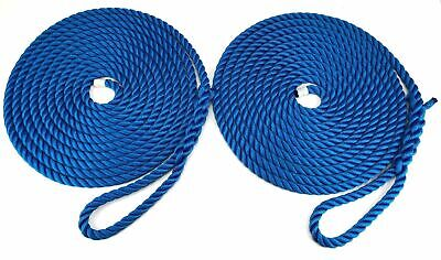 10mm-floating-mooring-ropes eye-spliced-3-strand-royal bleu en paires x 16mts
