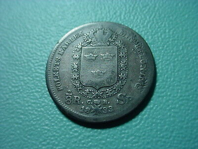 Sweden - Silver - 1833 1/8-Sp Daler In Very Nice Condition