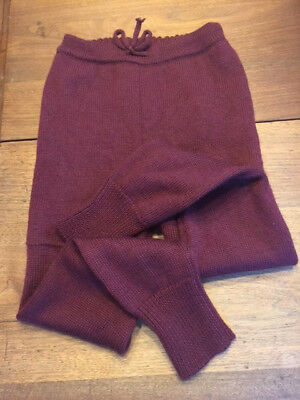 Sloomb Wool Scouts Excellent Used Condition Wine Color Size 3-4T Cloth Diapering