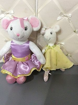 """Fisher Price Angelina Ballerina 14"""" Posable Plush Jointed Doll Toy and 10"""" LOT"""