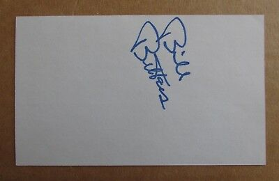 Bill Butters Signed Autograph 3X5 Index Card Nhl North Stars Wha Aeros Oilers
