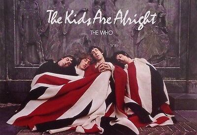 "THE WHO The Kids Are Alright, 6"" X 4"" Colour Postcard, 60's Pop And Rock, Mod"