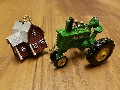 John Deere Tractor with Barn Ceiling Fan Pull (GREAT FOR MAN CAVE OR KIDS ROOM)