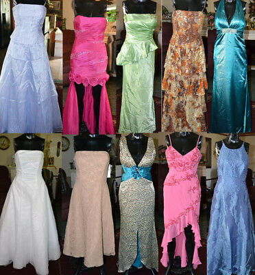 Mixed lot of 10 Formal Dresses. Prom, Bridesmaid, MOB Pageant sizes 2-14 resale