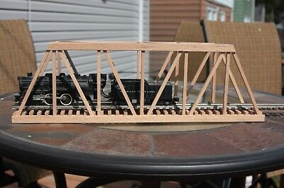 "S Gauge handmade wood trestle bridge 24"" long for American Flyer etc.."