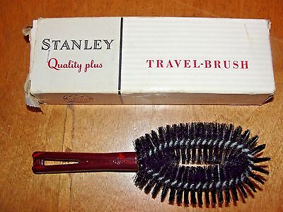 Vintage Stanley Home products Travel Personal Clothes Brush Lint #18 In Box