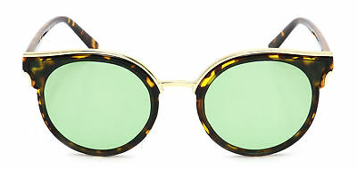 Women Cat Eye Sunglasses Round Vintage Designer Fashion Retro Celebrity Style