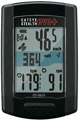 CatEye Stealth EVO Plus Cycle Bicycle Computer Model CC-GL51 GPS Technology