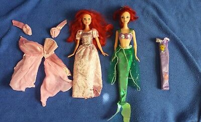 Disney The Little Mermaid Princess Ariel dolls with extra clothes