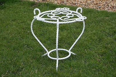 Vintage French Wrought Iron Shabby Chic Plant Stand