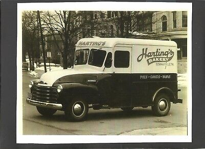 VINTAGE 8 X 10 HARTINGS BAKERY BOWMANSVILLE, PA PANEL TRUCK-PIES,CAKES [Lot#43]