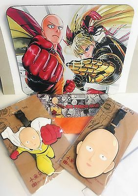 One Punch Man Lot - Mousepad, Luggage or School Backpack Bag Tags, Pencil Case