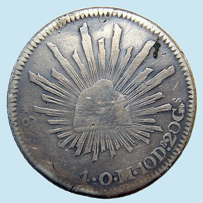 1844 Zs OM Mexico FIRST REPUBLIC 8 Reales Silver KM# 377.13 Var.! (1825-97) $NR!