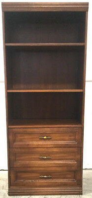 Vintage Traditional Bookcase Wall Cabinet Lot 2072