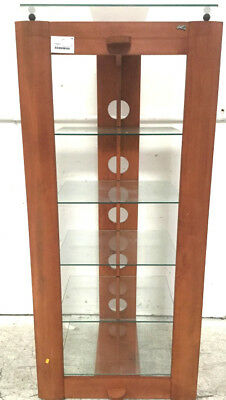 Bell'o Wooden 6-tier Display W/glass Shelves Lot 2467