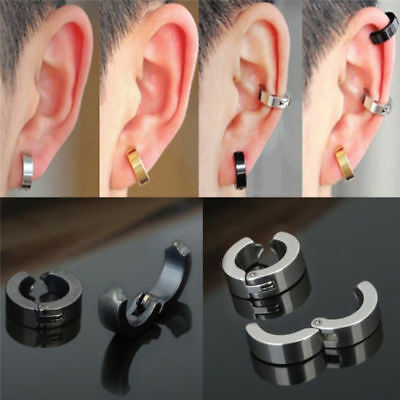 Cool Unique Mens Magnetic No Pierced Stainless Steel Earrings 5Colors UK SELLER