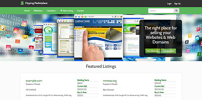 Flippa clone Website - Buy and Sell Websites with installation
