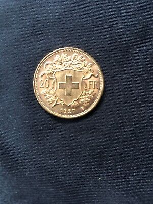 Switzerland 'Helvetia' 20 Francs Gold Coin