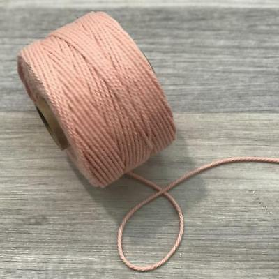 Peach 2mm Cotton Macrame Rope Cord per 10 metres