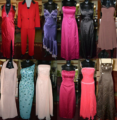 Mixed lot of 12 Formal Dresses. Prom, Bridesmaid, MOB Pageant sizes 4- 16 resale