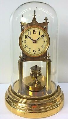 BHA Gustav Becker Anniversary 400 Day Clock with Glass Dome, circa 1910