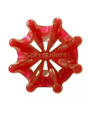 Softspikes Pulsar Golf Spikes / Tour Lock Fast Twist Connector / Cherry Red