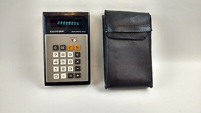 Lloyd's Accumatic E304 Series 255A vintage calculator with case tested working