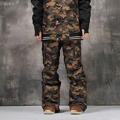 Men 10K Camouflage Winter Ski Snowboard Waterproof Pants Trousers S M L XL XXL