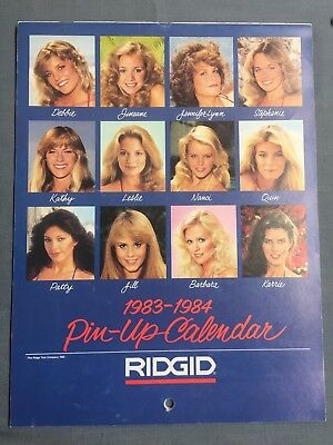 1983-1984 ~ RIGID Tools SWIMSUIT PIN UP Calendar Two