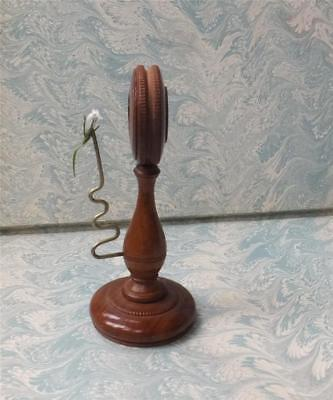 RARE SIMPLE BOTANISTS MICROSCOPE - TURNED BOXWOOD with SPRING OBJECT PIN