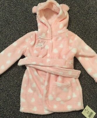 Baby Girls Dressing Gown/Housecoat 3-6 Months
