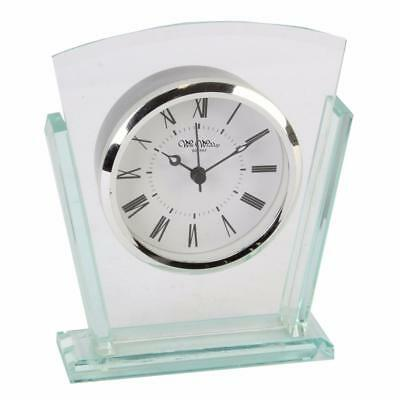 Art Deco Style Double Layered Glass mantle clock W2707