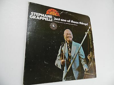 """Stephane Grappelli . Just one of those things ! . 12"""" 33rpm LP Record .Jazz.1973"""