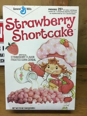 1981 Strawberry Shortcake General Mills Cereal Box Empty