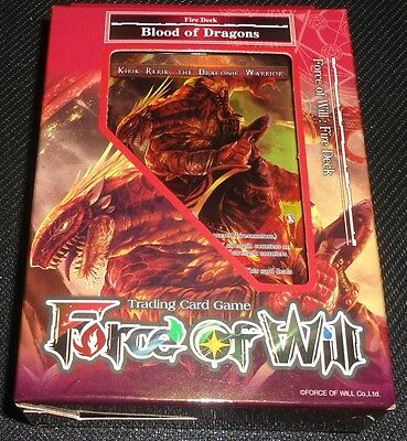 FOW Force of Will Blood of Dragons Fire Starter Deck SEALED