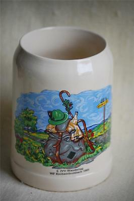 1985 IVV Wandertag WF Kirchenthumbach Ceramic Beer Mug Stein West Germany Koss..