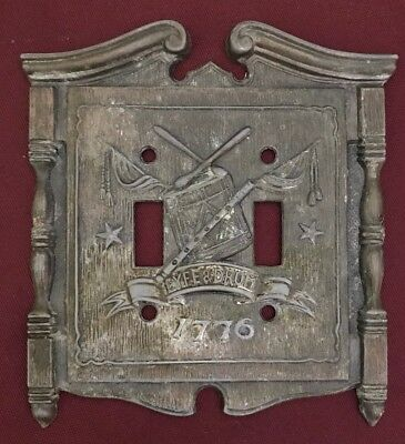 Vintage 1968 American Tack & HDWE Co. 1776 Fyfe & Drum Light Switch Plate Cover