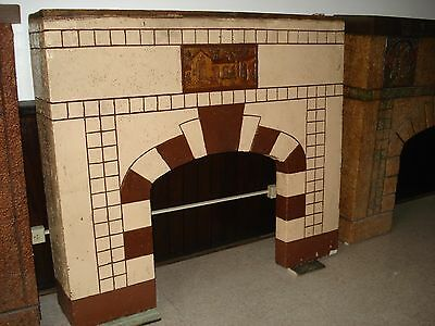 Cast stone  Fireplace Mantle Hacienda Scene 1940's