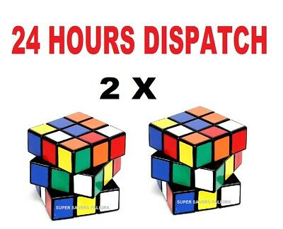 2 X Rubics Cube Rubix  Mind Game Kids Cube Magic Cube Rubiks Cube Square Puzzle