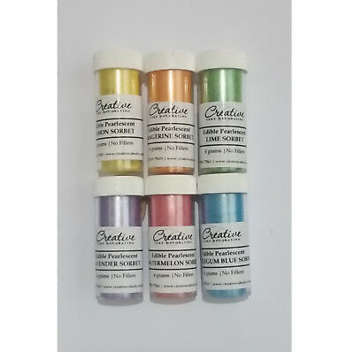 Creative Cake Decorating Edible Pearlescent Lustre Dust 4g - sorbet range