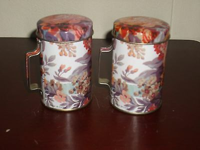 **New** Floral Print Aluminum Salt and Pepper Shakers Set